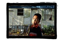 child at farm labor camp