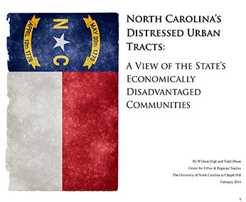 cover of distressed urban tracts report