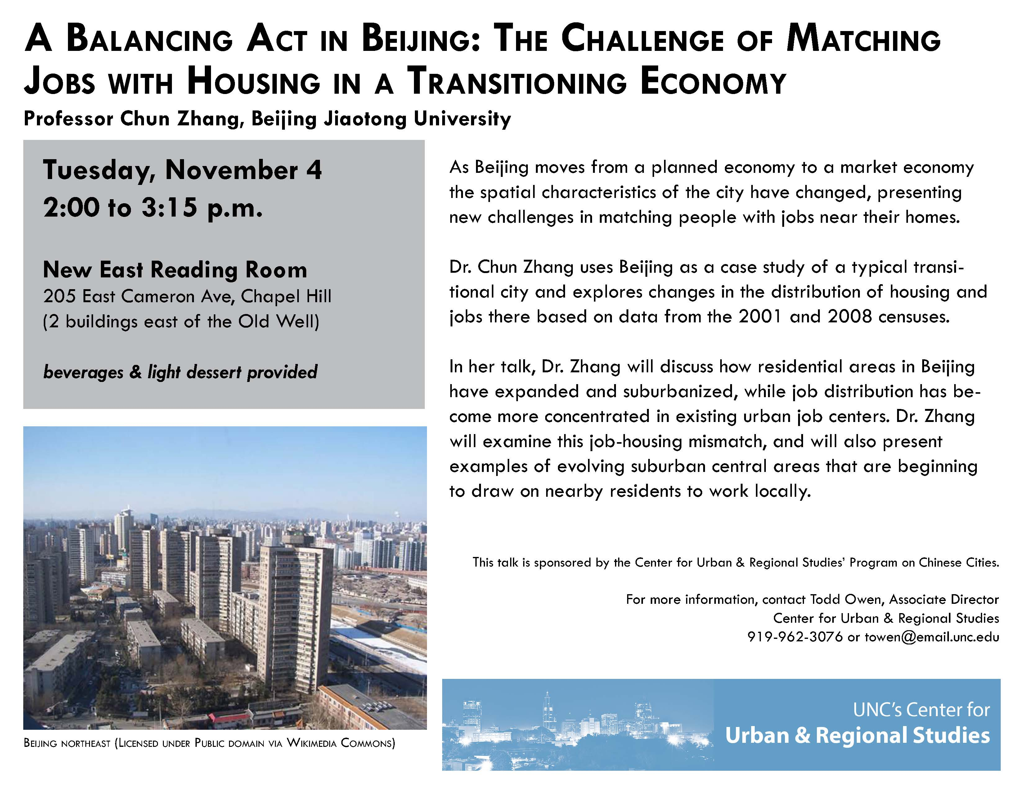 A Balancing Act in Beijing: The Challenge of Matching Jobs with Housing in a Transitioning Economy