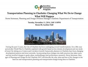 Charlotte Transportation event flyer