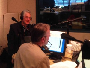 Bill Rohe with host Frank Stasio on WUNC's The State of Things