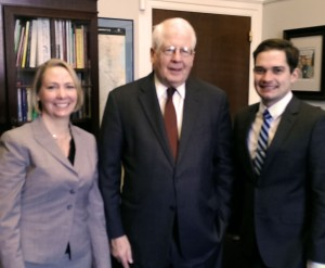 Dr. Michael Webb and Kirstin Frescoln with Rep. David Price