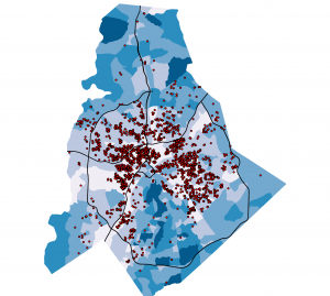 Most Section 8 residents in Charlotte are concentrated in relatively low-income neighborhoods north and west of Uptown Charlotte.