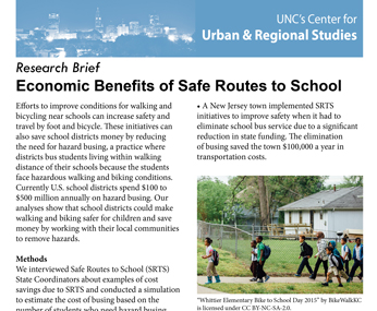 Economic Benefits of Safe Routes to School