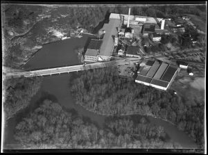An aerial shot of Rocky Mount Mills circa 1953. (photo courtesy of Community Histories Workshop).
