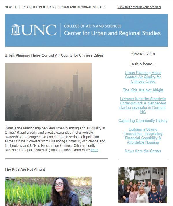 Spring 2018 CURS newsletter