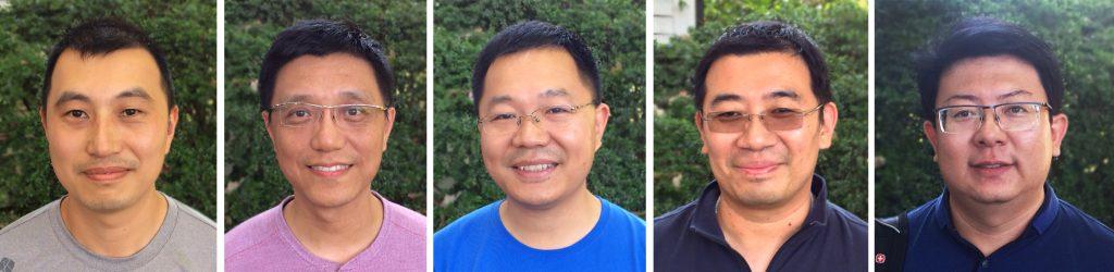 Program on Chinese Cities visiting scholars: Min He, Kejie Wu, Qinzheng Xu, He Yang and Peng Zhang.