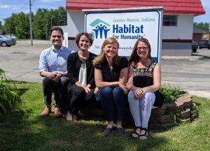 CURS Senior Research Associate Michael Webb (far left) with staff from the Greater Muncie Habitat for Humanity.