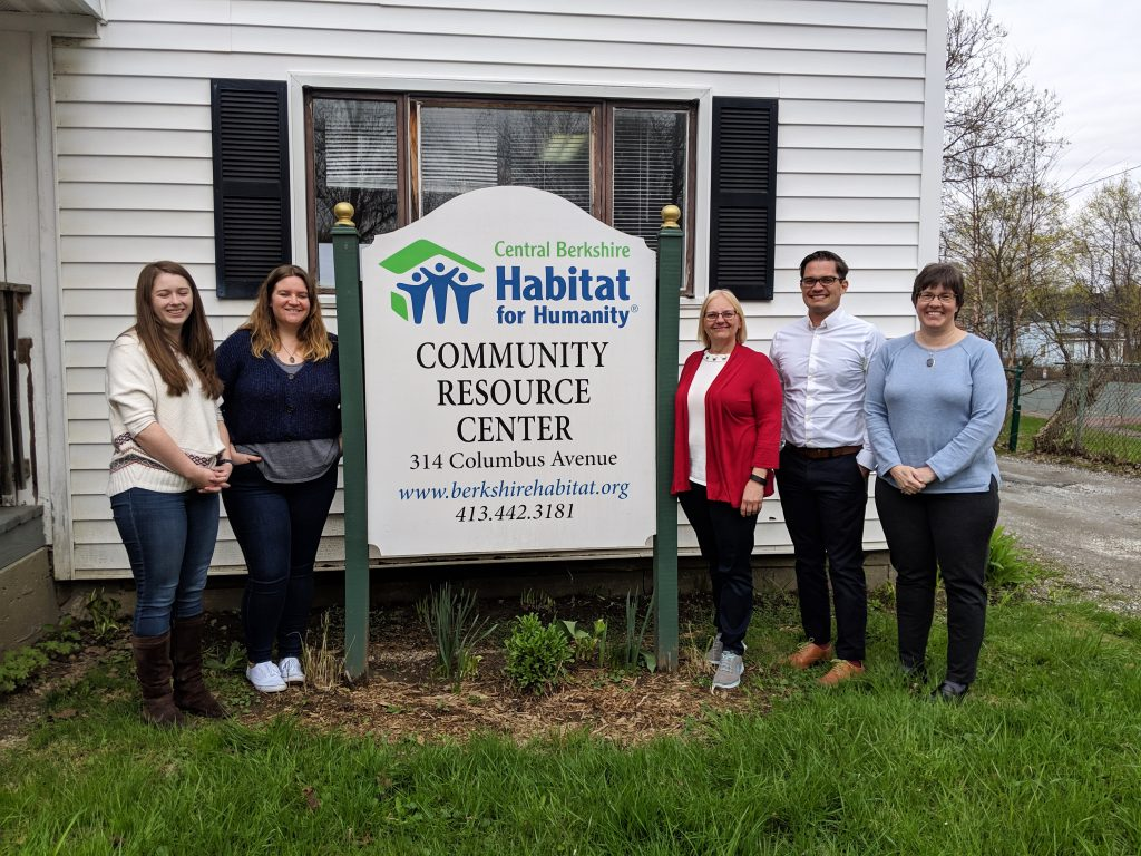 CURS Senior Research Associate Michael Webb (second from right) meets with Central Berkshire Habitat for Humanity staff.